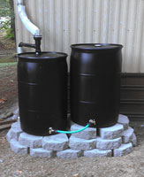 Green Rain Barrel Install, Springfield, Oregon