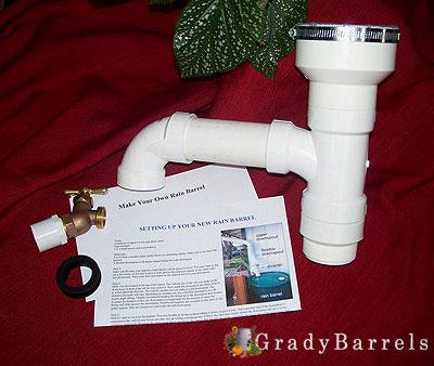 buy our downspout rain diverter and rain barrel kit - Rain Diverter