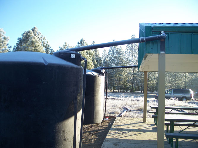Inflow Pipe From Picnic Area To 2500 Gallon Tank