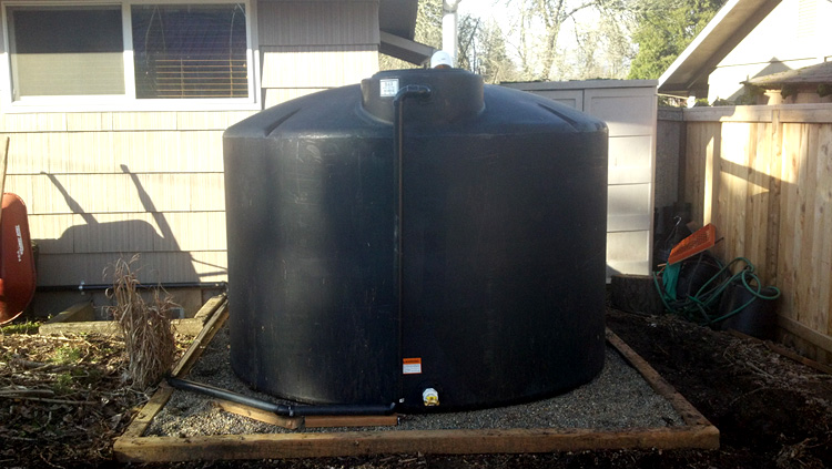 Two 1550 Gallon Water Storage Tanks South Eugene